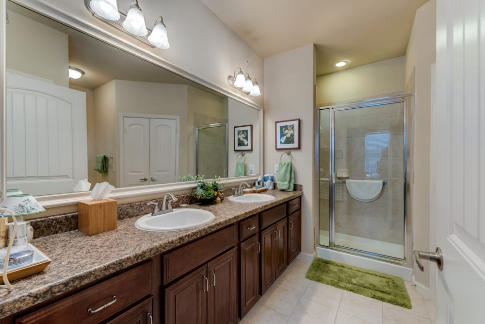 Bathroom layout at Watercrest at Bryan in Bryan, Texas