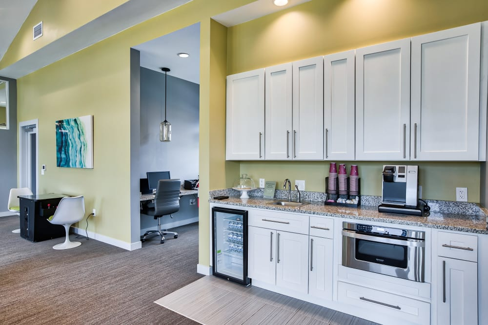 Clubhouse Kitchen at Vistas at Stony Creek Apartments in Littleton, Colorado