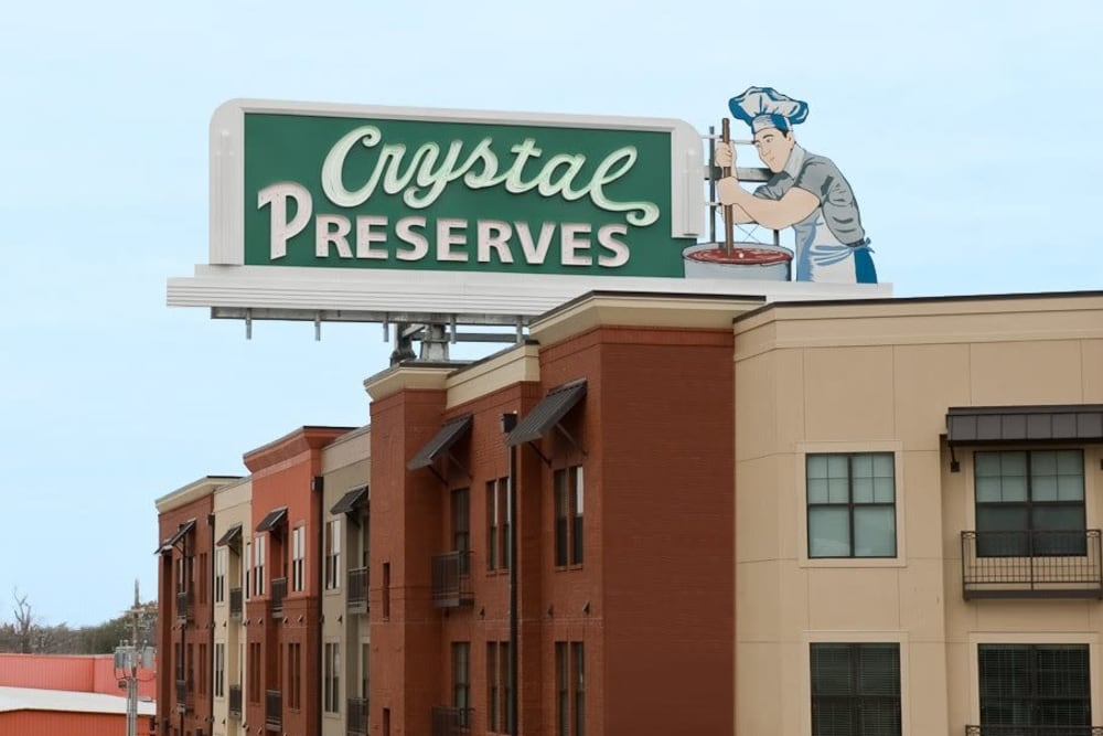 Crystal Reserves sign near The Preserve in New Orleans, Louisiana