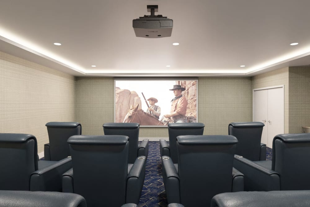 Indoor theater at Anthology of Simsbury in Simsbury, Connecticut