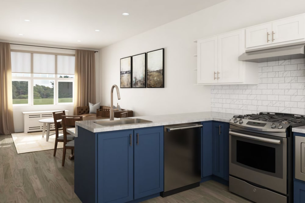 Inside an apartment at Anthology of Simsbury in Simsbury, Connecticut