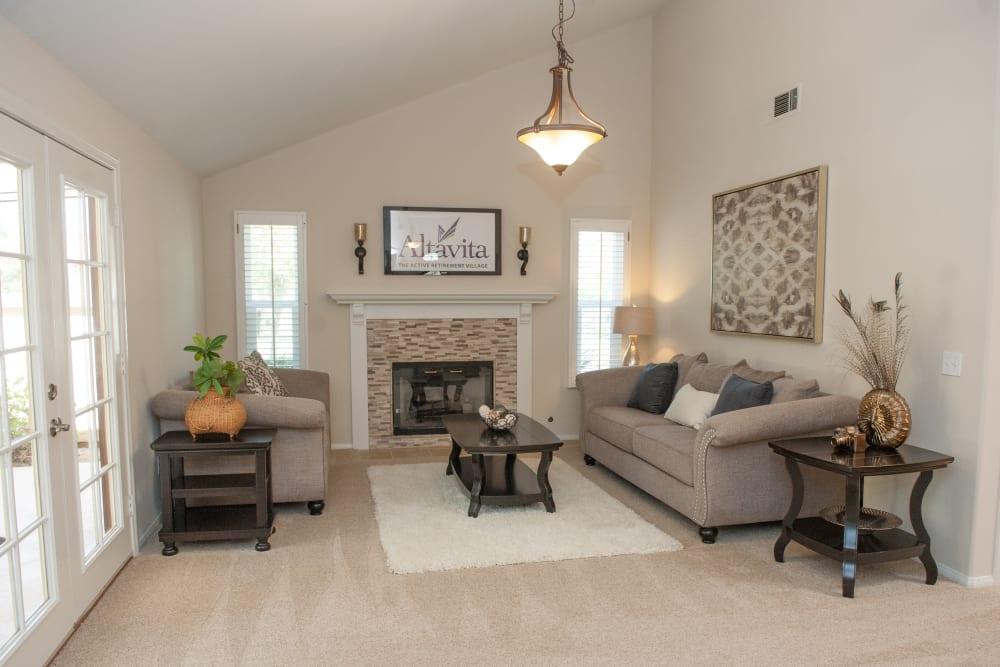 Living room model at Westmont Village in Riverside, California