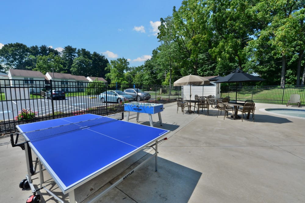 Our Apartments in Jeffersonville, Pennsylvania offer a Ping Pong Table