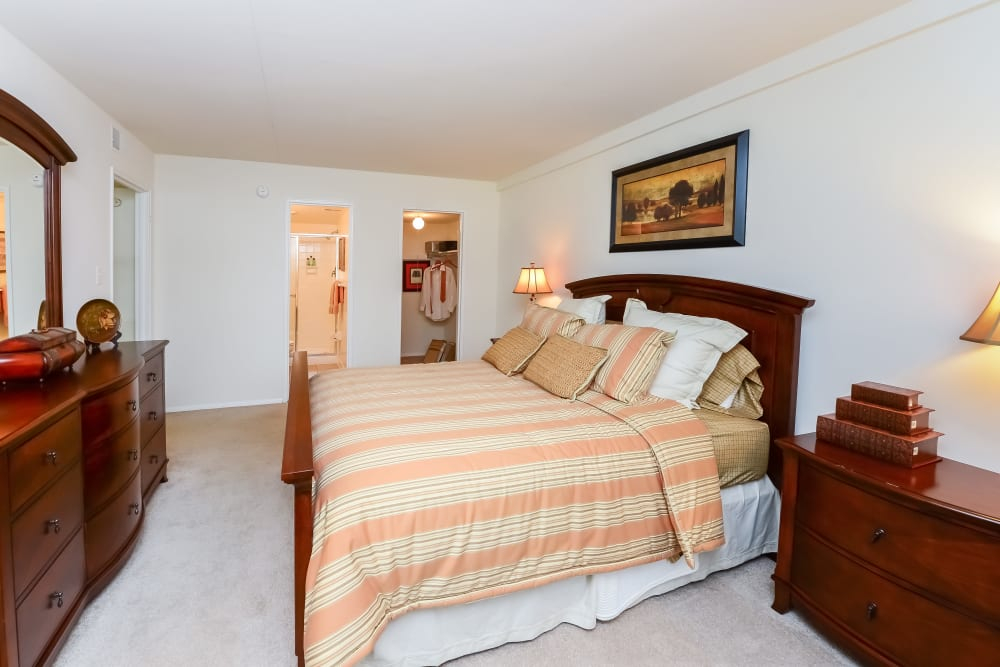 Bedroom at Willowbrook Apartments in Jeffersonville, Pennsylvania