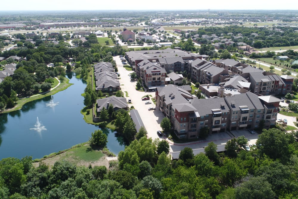 Areal view of Watercrest at Mansfield in Mansfield, Texas