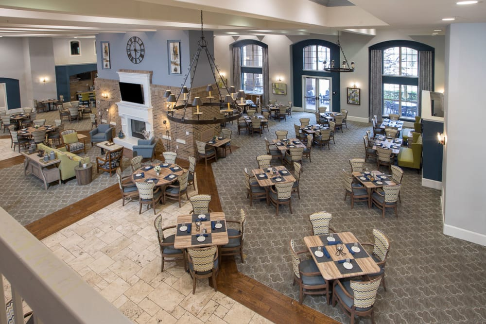A large dining area at Raider Ranch in Lubbock, Texas
