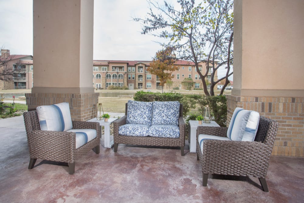 Lovely seating area at Raider Ranch in Lubbock, Texas