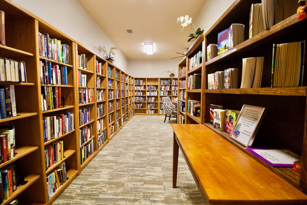 A library at Raider Ranch in Lubbock, Texas