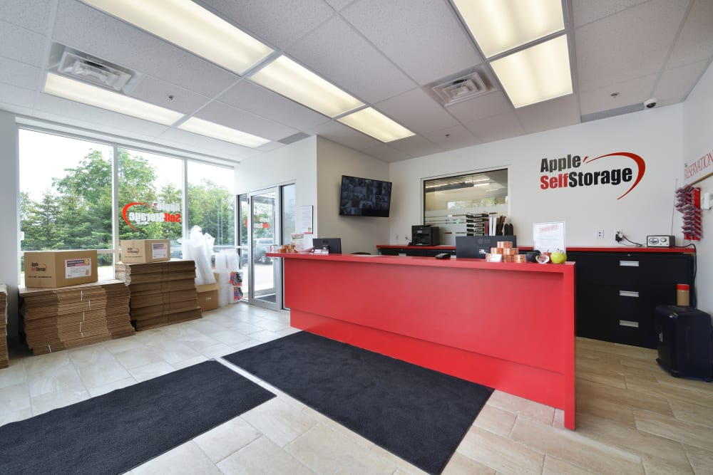Front desk at Apple Self Storage - Kitchener - Highland in Kitchener, Ontario