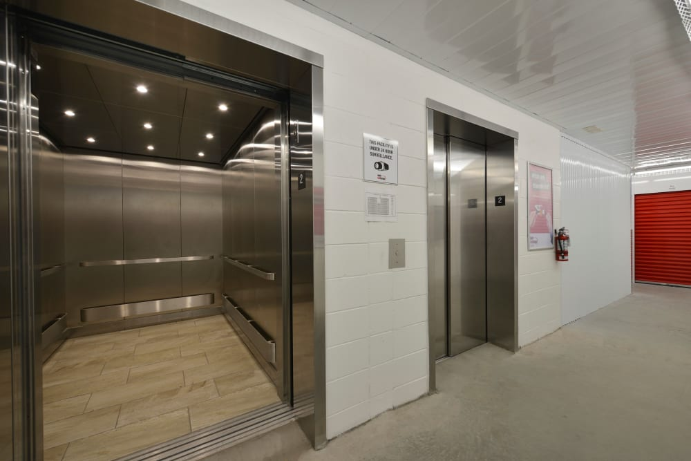 Elevators at Apple Self Storage - Kitchener - Highland in Kitchener, Ontario