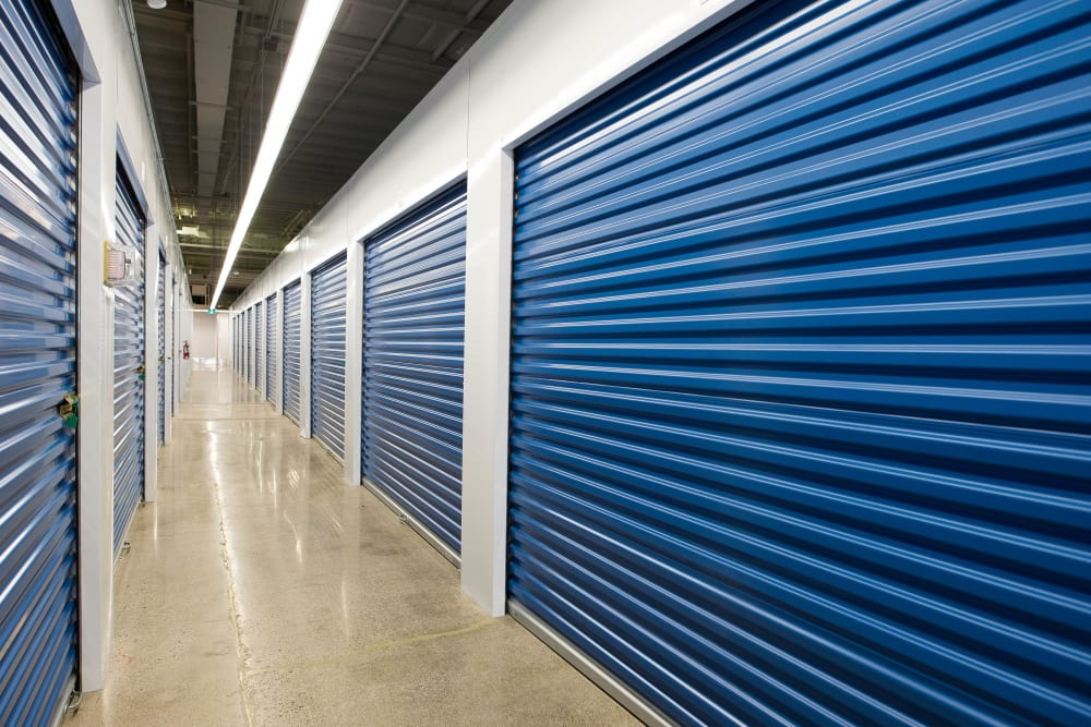 Interior storage units at Apple Self Storage - Mississauga - Erindale in Mississauga, Ontario