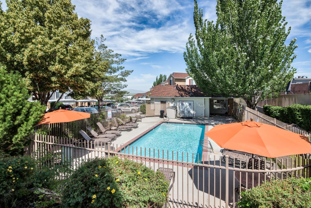 Swimming Pool at Cherry Lane Apartment Homes in Bountiful, Utah