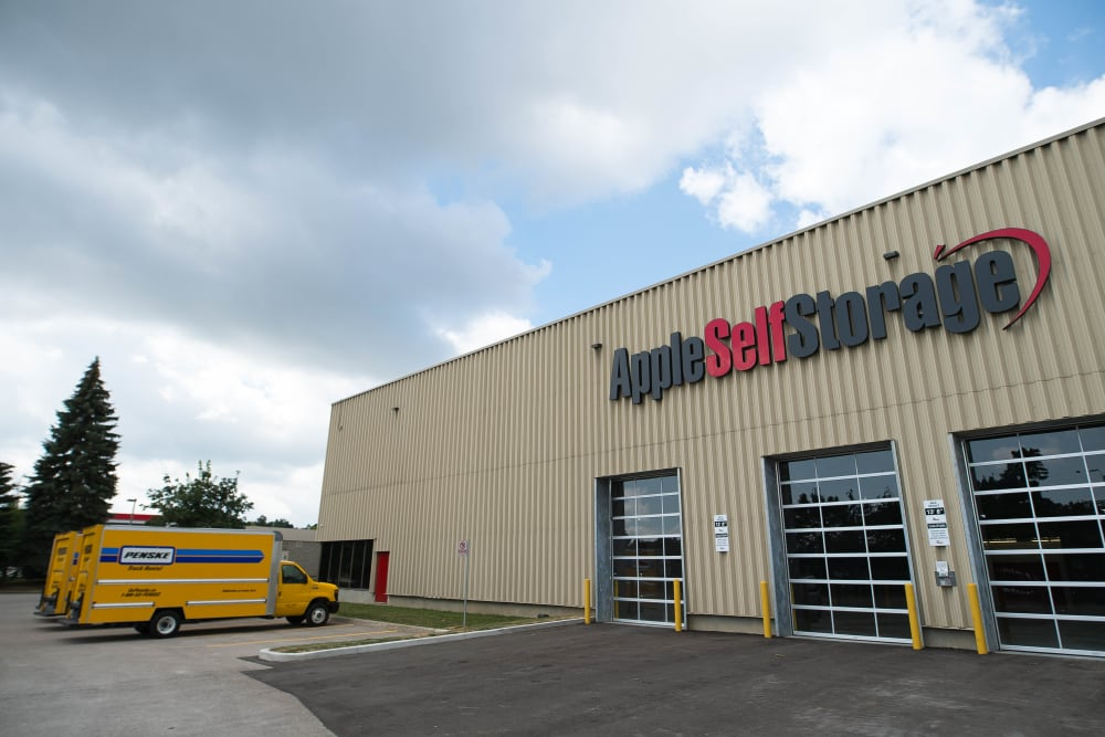 Exterior of Apple Self Storage - Mississauga - Meadowvale in Mississauga, Ontario