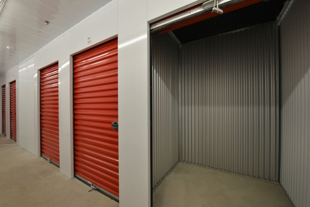 Storage units in a variety of sizes at Apple Self Storage - Mississauga - Meadowvale in Mississauga, Ontario