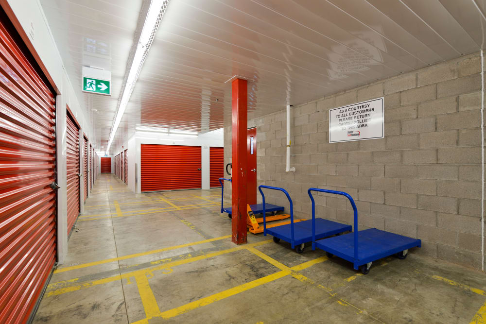 Carts available for use at Apple Self Storage - Mississauga - Meadowvale in Mississauga, Ontario