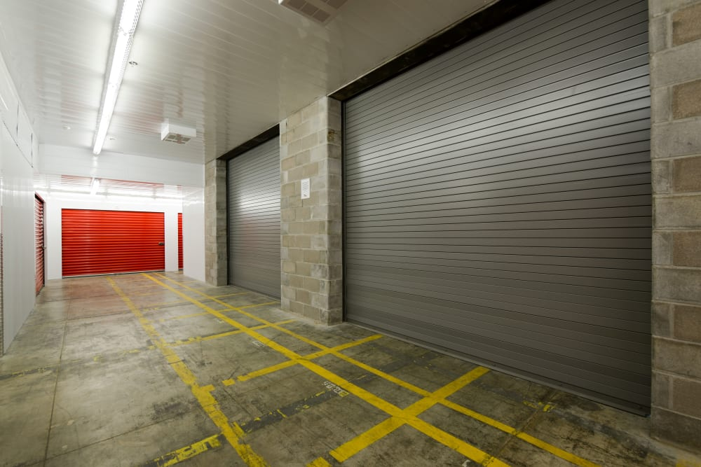 Large loading doors at Apple Self Storage - Mississauga - Meadowvale in Mississauga, Ontario