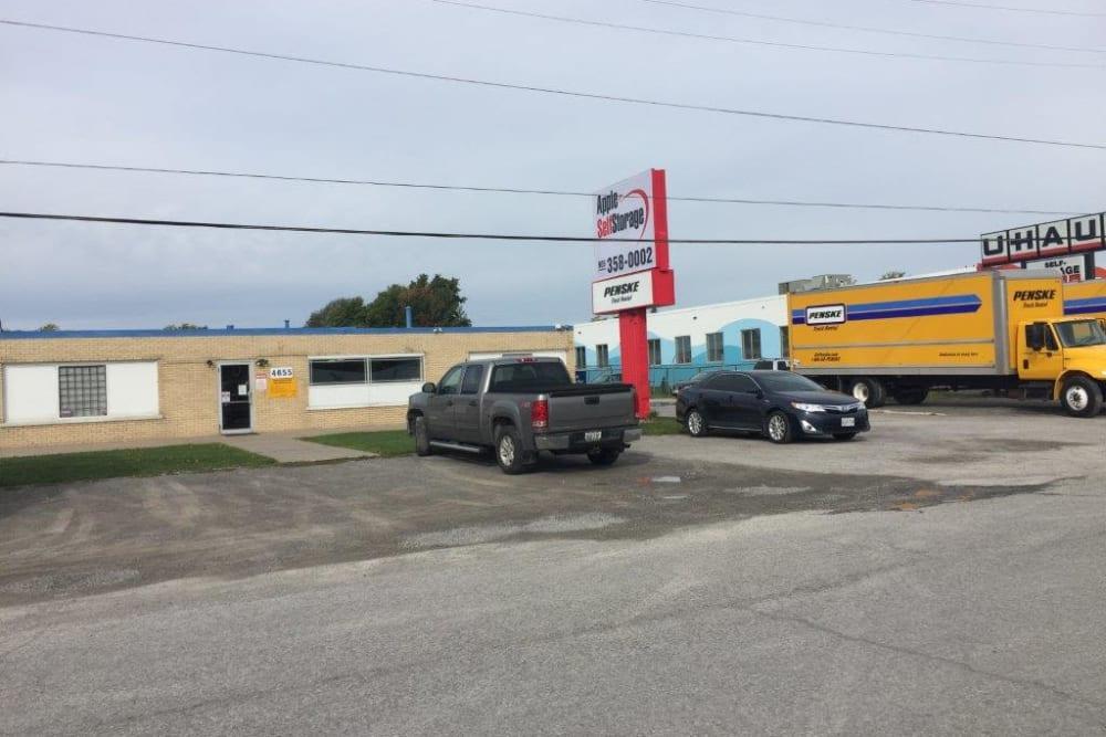 Truck rentals at Apple Self Storage - Niagara Falls - Kent in Niagara Falls, Ontario