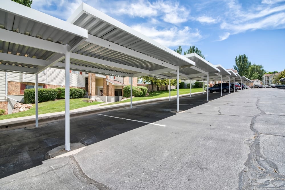 Covered Parking at Cherry Lane Apartment Homes in Bountiful, Utah