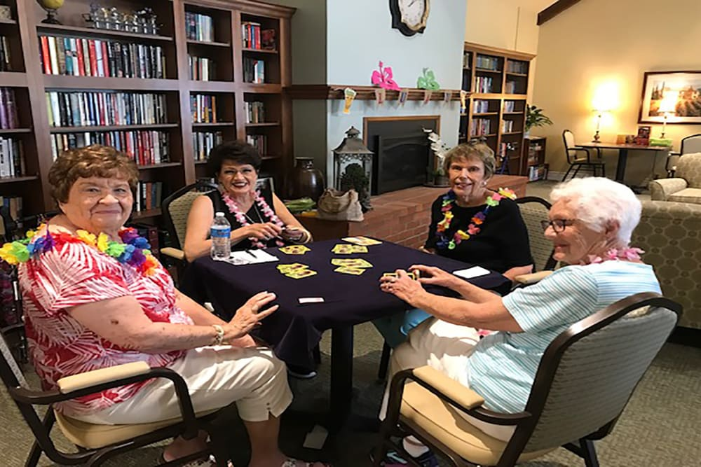 Residents playing games at Blossom Vale Senior Living in Orangevale, California