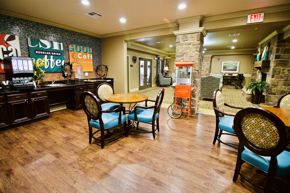 The clubhouse at Isle at Watercrest Mansfield in Mansfield, Texas