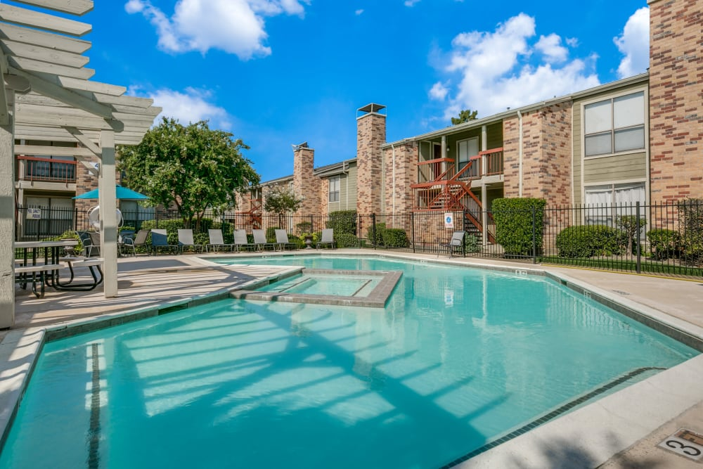 Pool at Mesquite Village Apartments in Texas