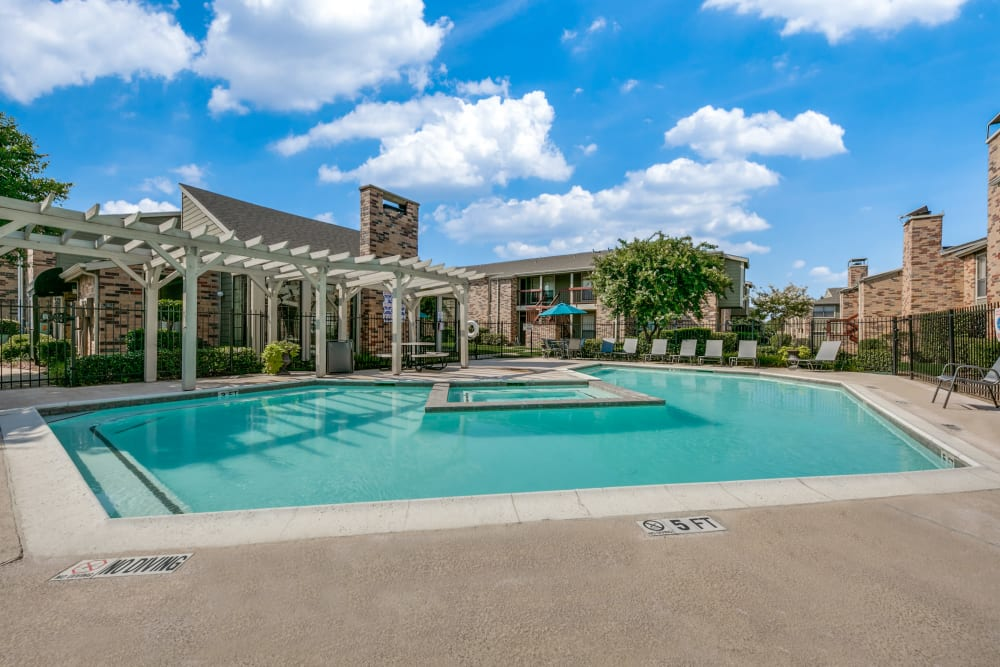 Mesquite Village Apartments pool view in Mesquite, TX