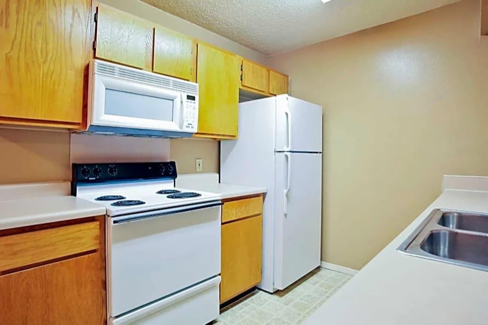 Kitchen appliances at Chapel Ridge in Norman, Oklahoma
