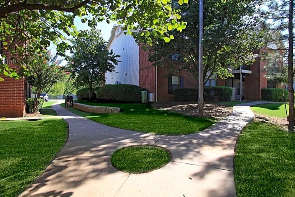 Beautiful walkways at Chapel Ridge in Norman, Oklahoma