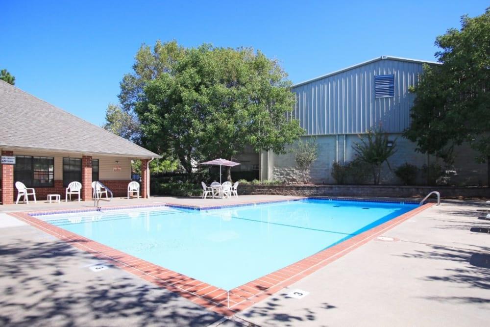 Pool patio at Chapel Ridge in Norman, Oklahoma