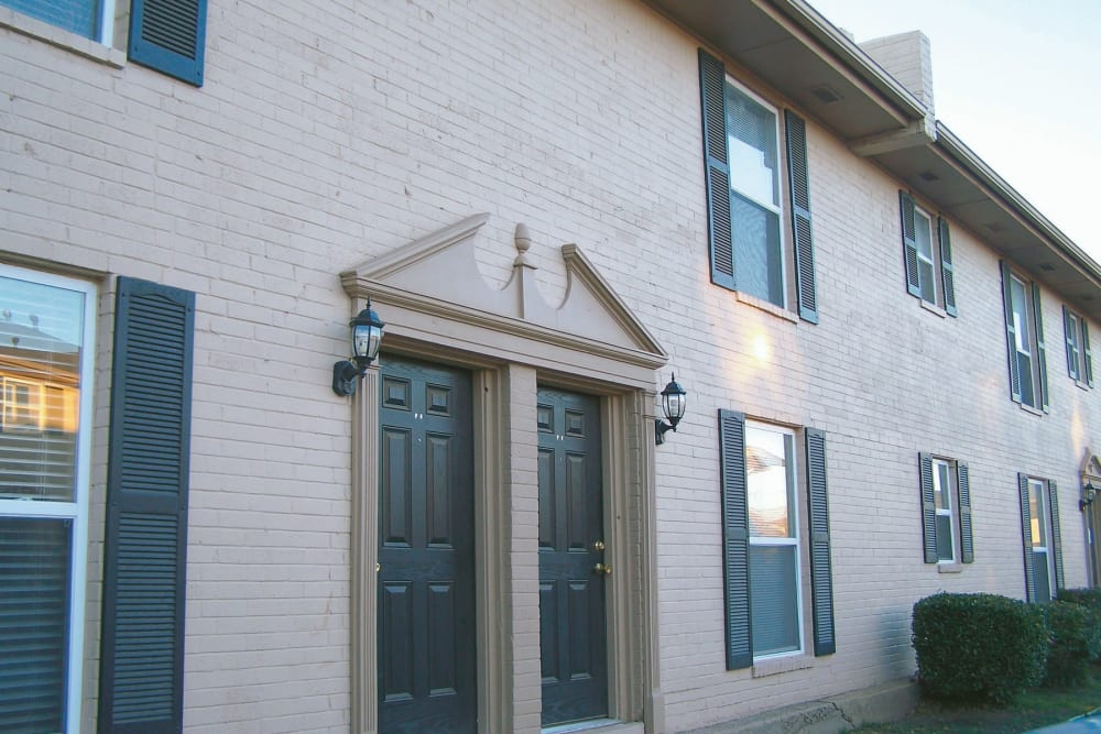Entrance to apartments at Sterling Park in Norman, Oklahoma