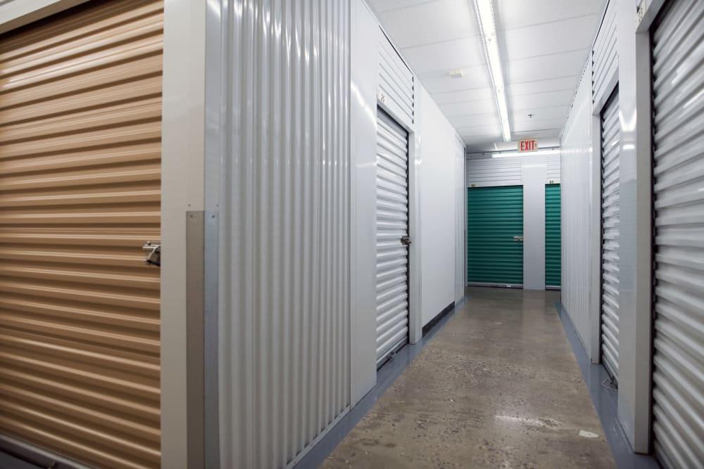 Indoor storage units at Weston Self Storage in Toronto, Ontario