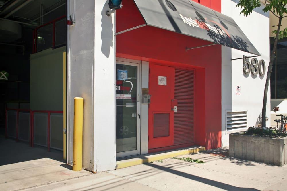 Front door of Apple Self Storage - Toronto Downtown in Toronto, Ontario