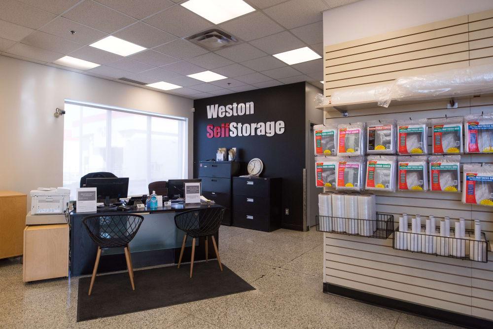 Desk at Weston Self Storage in Toronto, Ontario