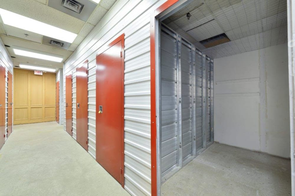 Storage space at Centron Self Storage in North York, Ontario