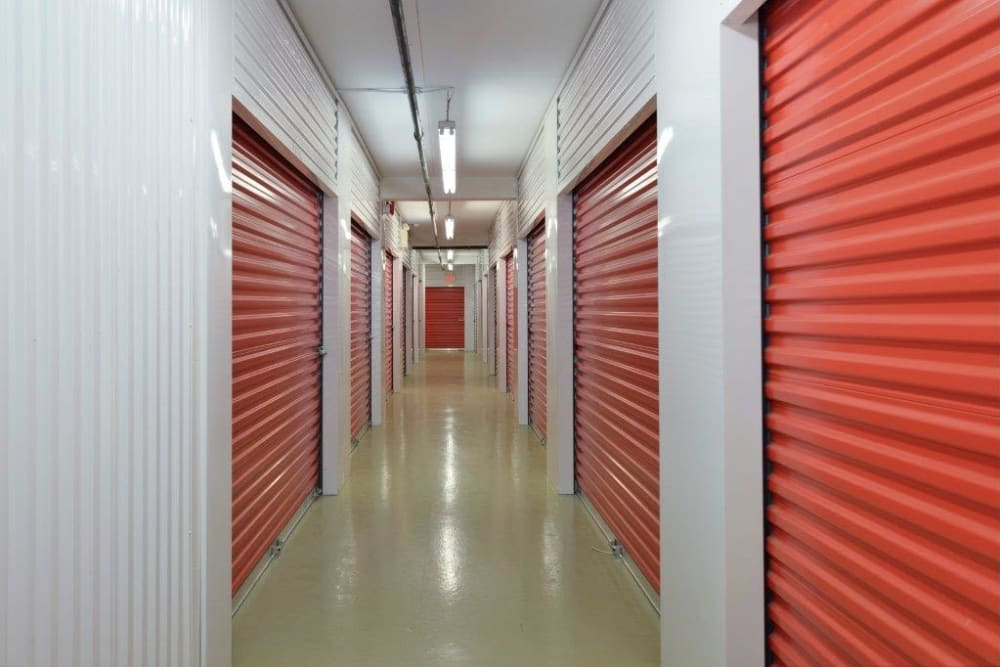 Interior storage units are available at Centron Self Storage in North York, Ontario