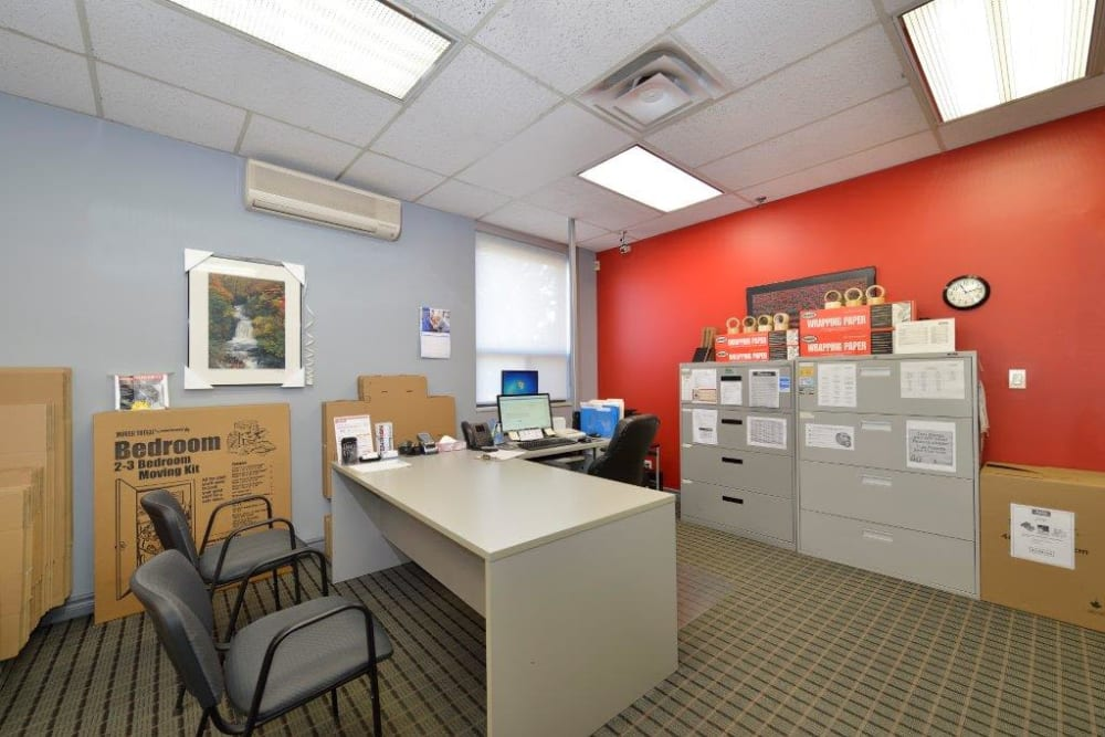 Office at Centron Self Storage in North York, Ontario
