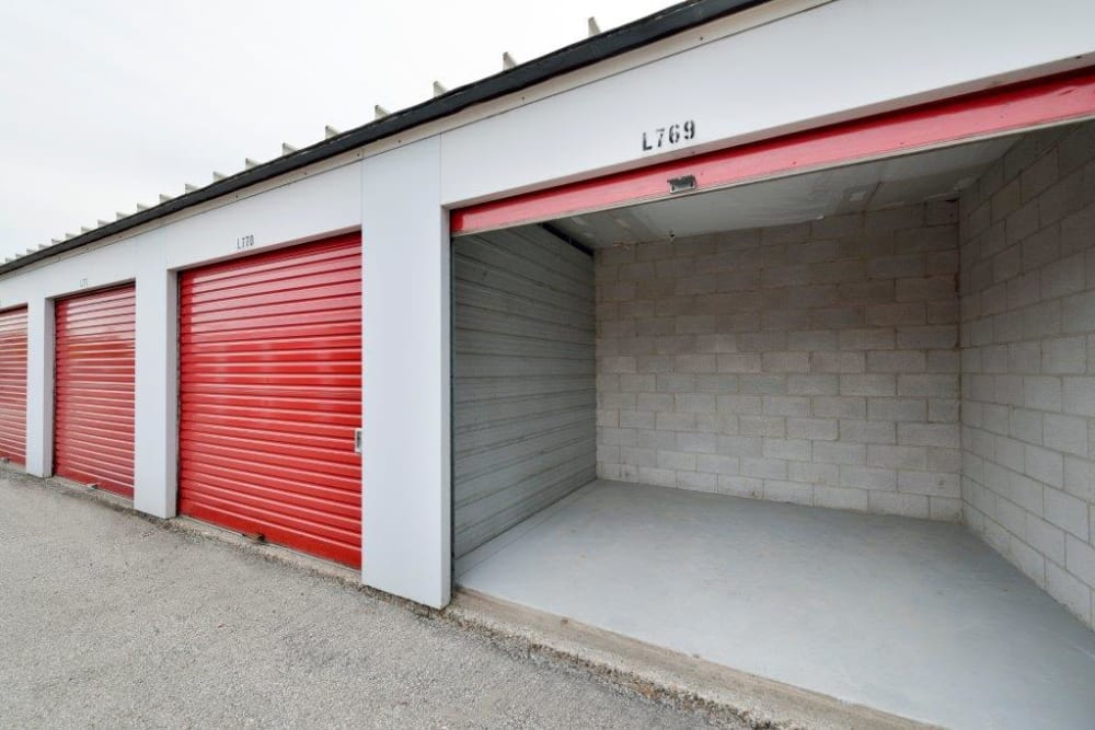 Storage units in a variety of sizes available at Apple Self Storage - Toronto - Danforth in Toronto, Ontario