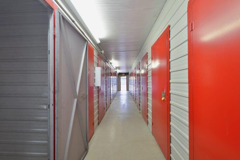 Inside storage units at Apple Self Storage - Toronto - Danforth in Toronto, Ontario