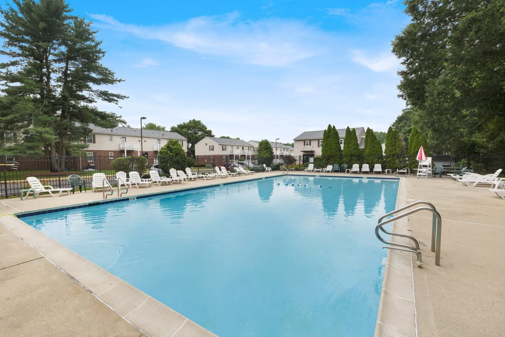 Swimming pool at Village Square Apartments in Mount Holly, NJ