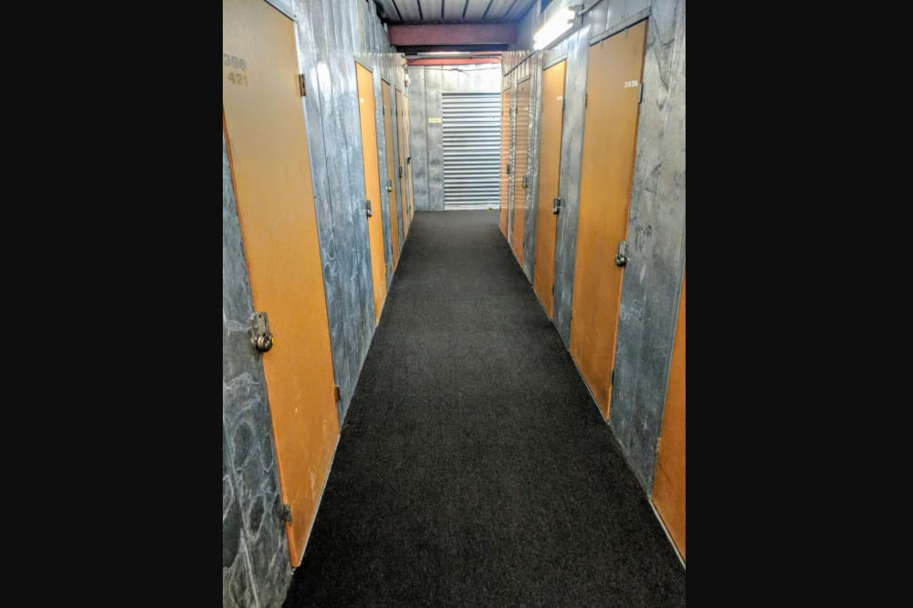 Interior units at StorQuest Self Storage in Rancho Cucamonga, CA