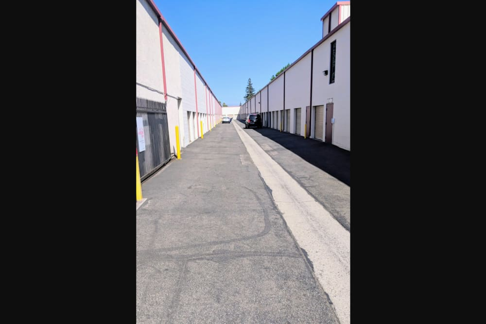 Exterior units at StorQuest Self Storage in Rancho Cucamonga, CA