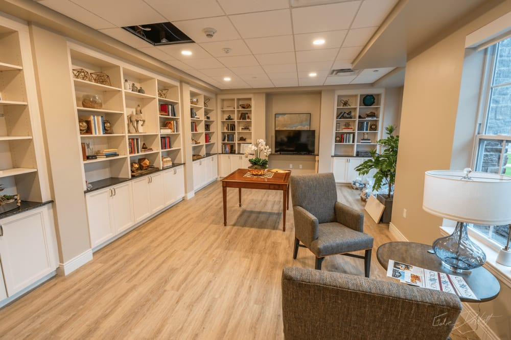 A common area at Harmony at Morgantown in Morgantown, West Virginia