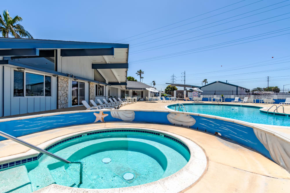 Community hot tub at Brentwood in Chula Vista, California