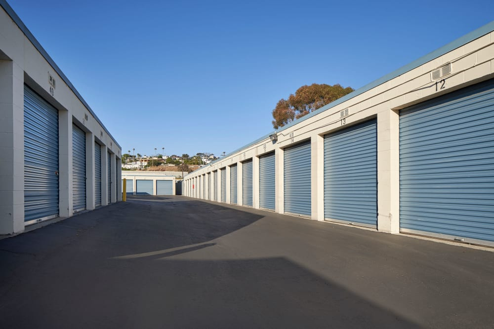 Wide driveways at Stor'em Self Storage in San Diego, California