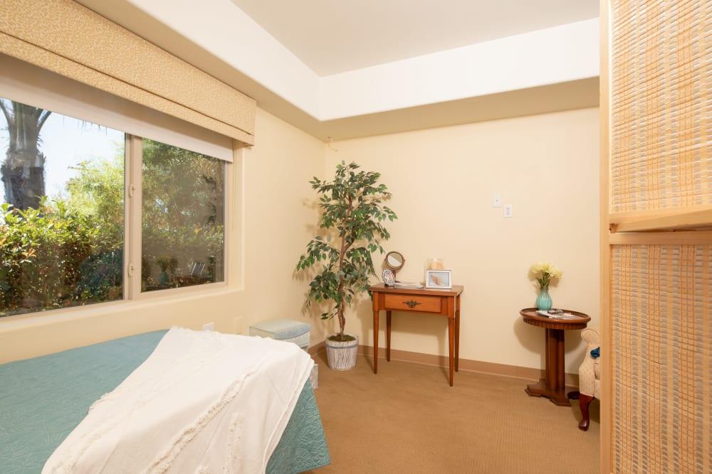 Shared bedroom model unit at Vista Gardens in Vista, California