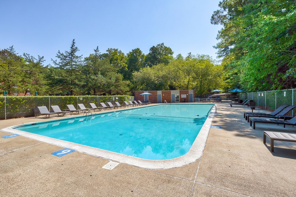 Swimming Pool at Parkway Apartments in Williamsburg, Virginia
