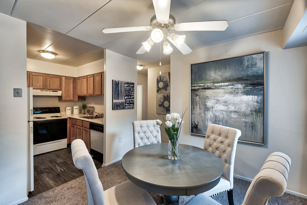 Dining Nook & Kitchen at Parkway Apartments in Williamsburg, Virginia
