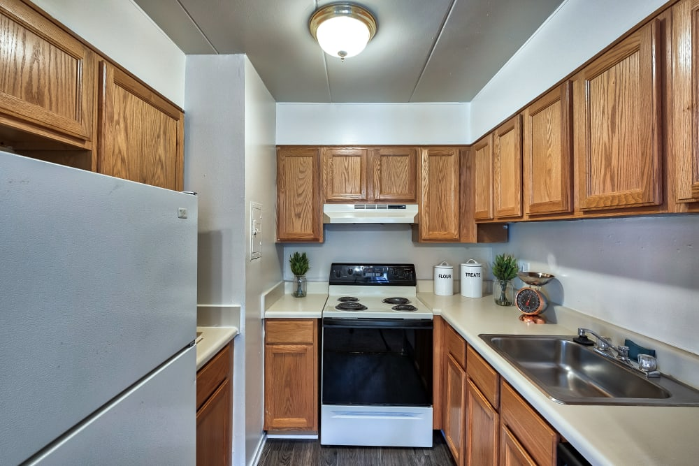 Kitchen at Parkway Apartments in Williamsburg, Virginia