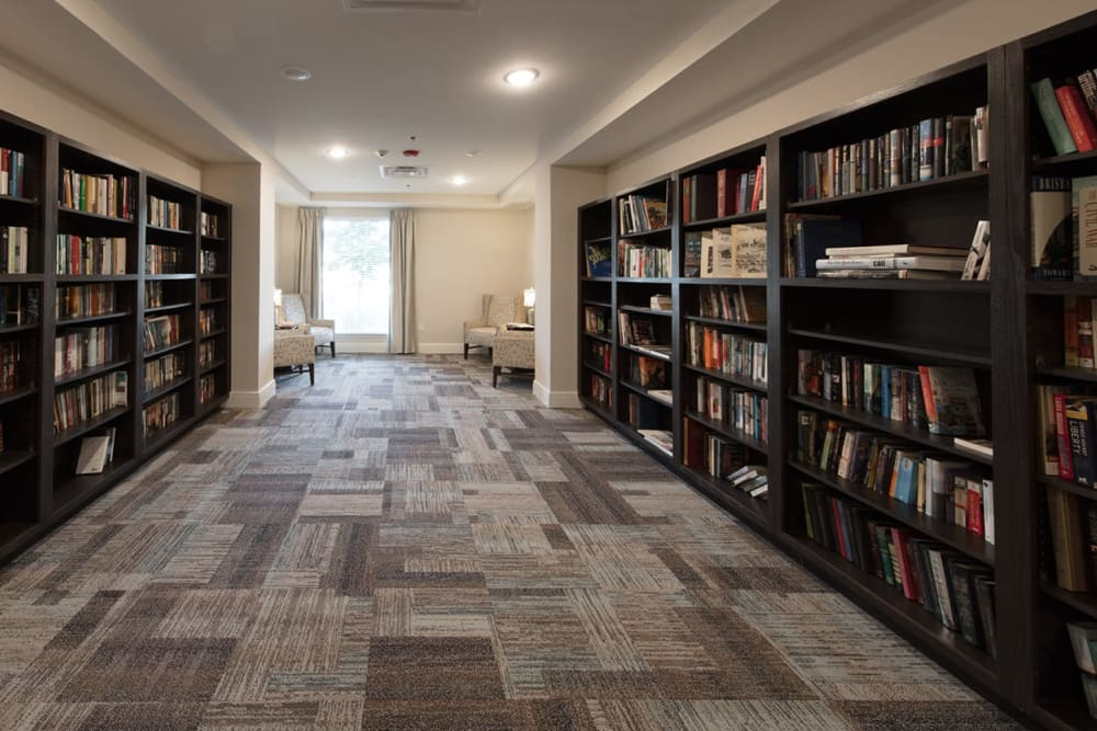 The community library at lHarmony at Wescott in Summerville, South Carolina
