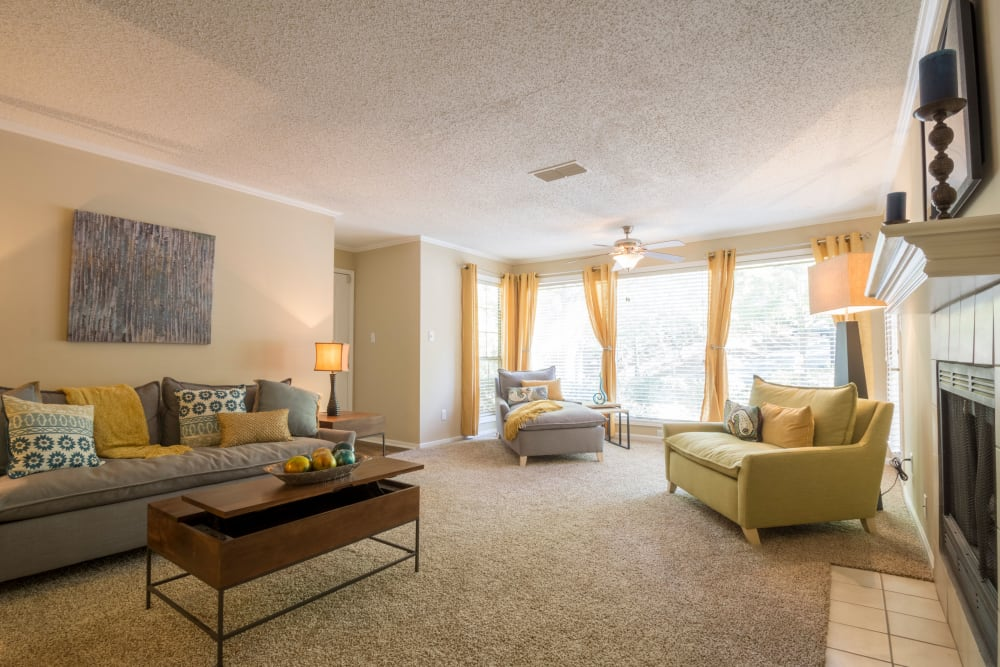Spacious model living room at Summerchase at Riverchase in Hoover, Alabama